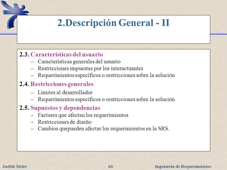 2.Descripción General - II