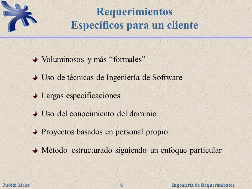 Requerimientos Específicos para un cliente