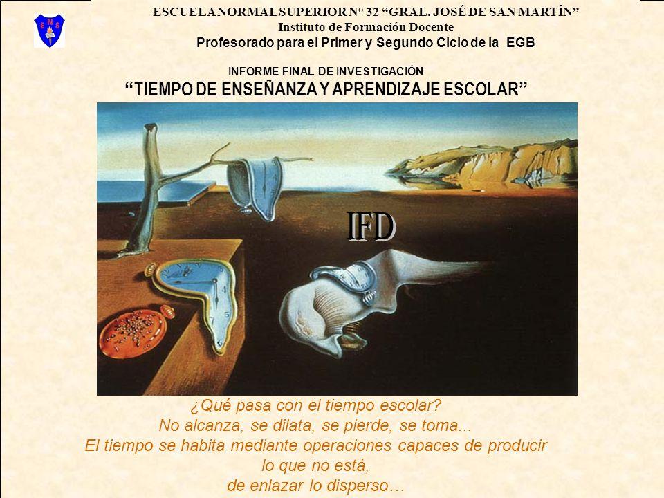 IFD TIEMPO DE ENSEÑANZA Y APRENDIZAJE ESCOLAR