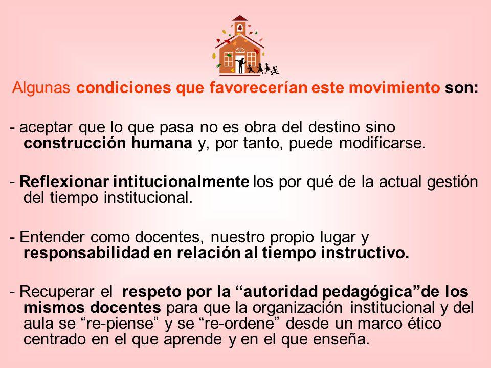 Algunas condiciones que favorecerían este movimiento son: