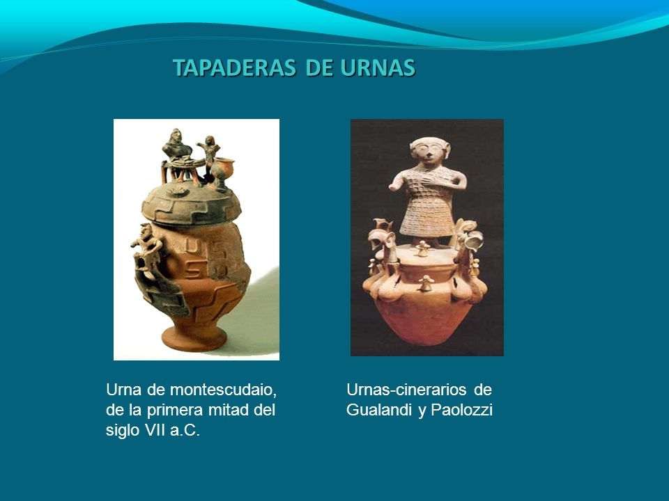 TAPADERAS DE URNAS Urna de montescudaio, de la primera mitad del siglo VII a.C.