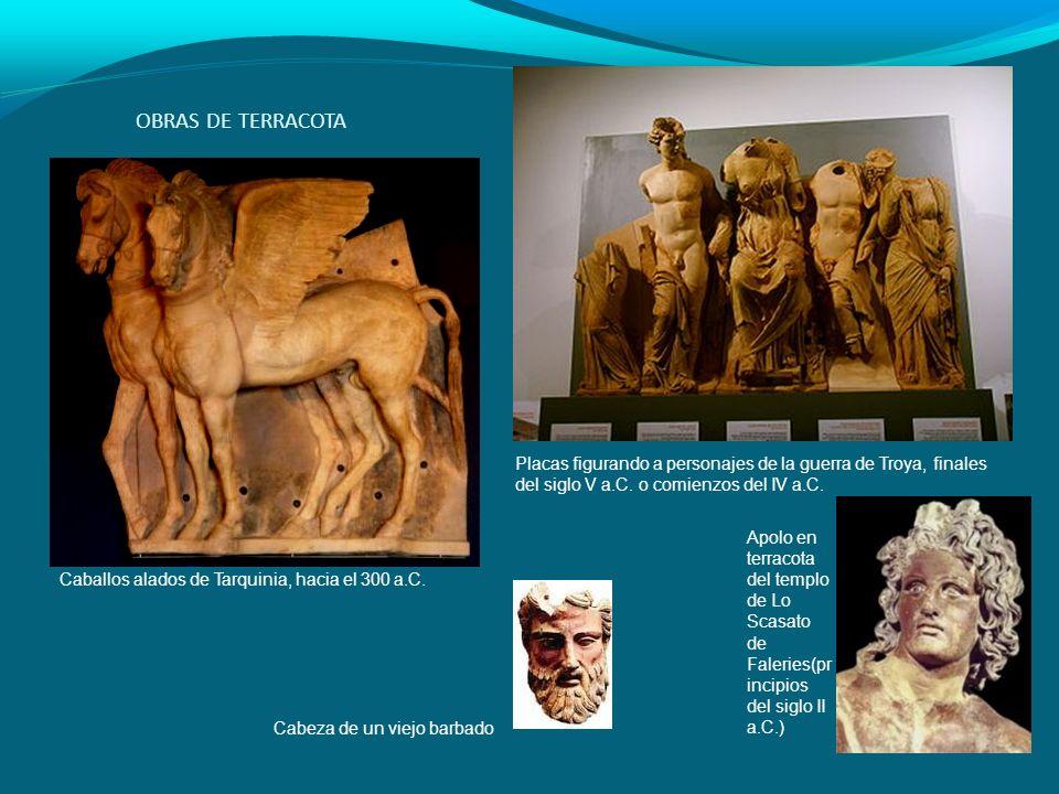 OBRAS DE TERRACOTA Placas figurando a personajes de la guerra de Troya, finales del siglo V a.C. o comienzos del IV a.C.