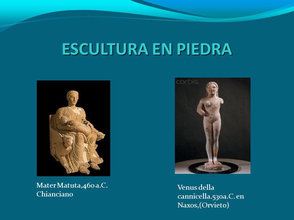 ESCULTURA EN PIEDRA Mater Matuta,460 a.C. Chianciano