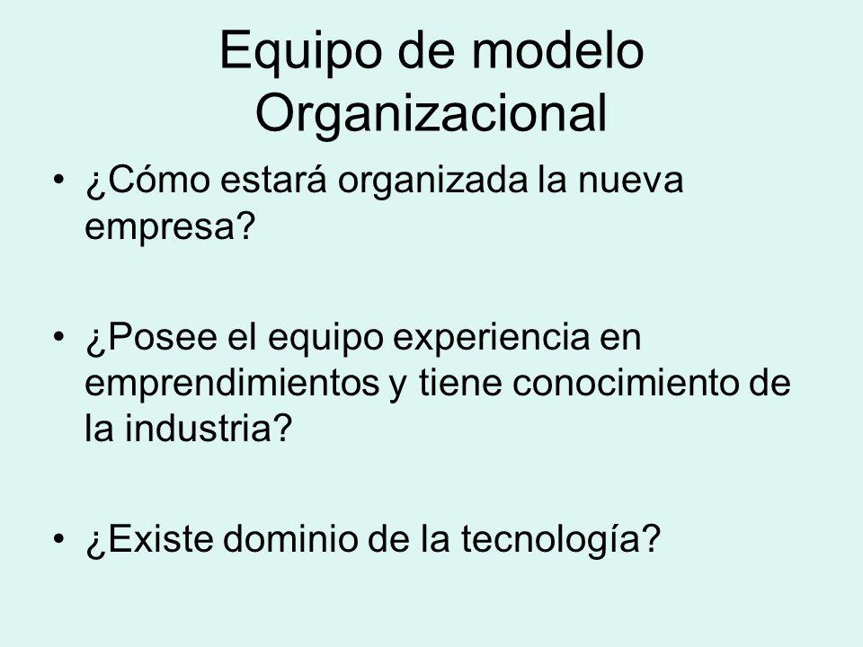 Equipo de modelo Organizacional