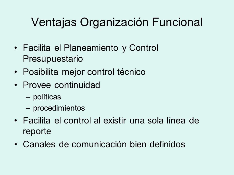 Ventajas Organización Funcional