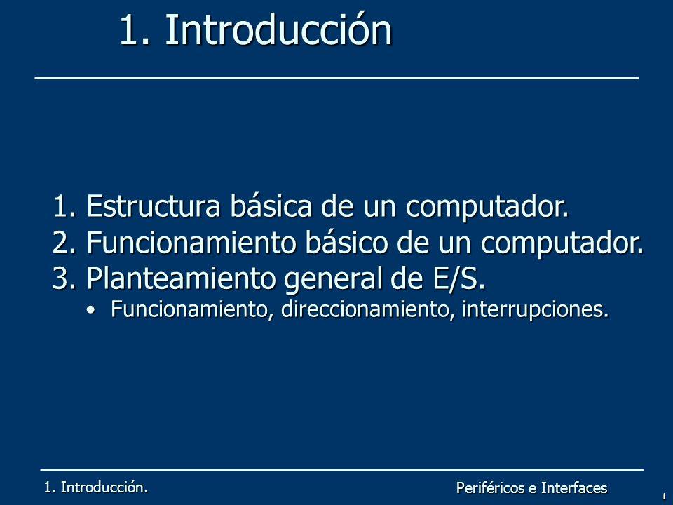 1. Introducción Estructura básica de un computador.