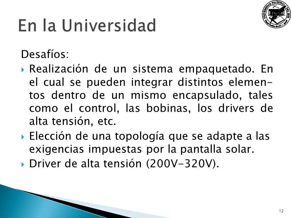 En la Universidad Desafíos: