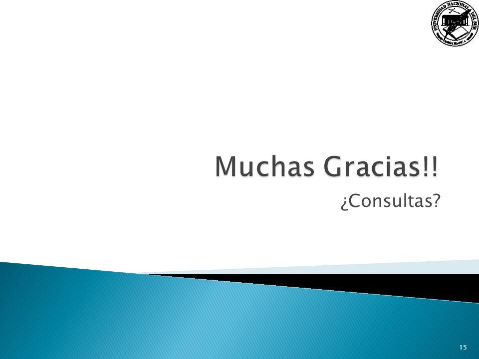 Muchas Gracias!! ¿Consultas