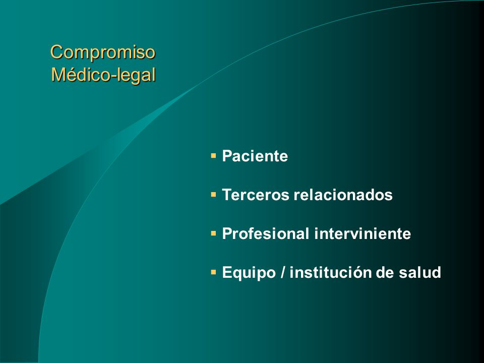 Compromiso Médico-legal