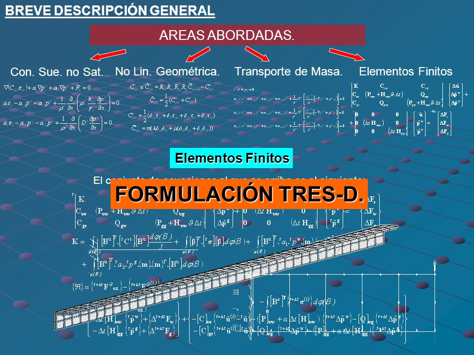 El conjunto de ecuaciones al que se arriba es el siguiente: