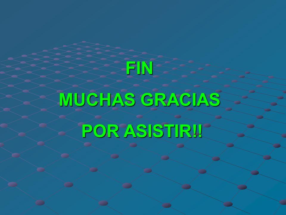 FIN MUCHAS GRACIAS POR ASISTIR!!