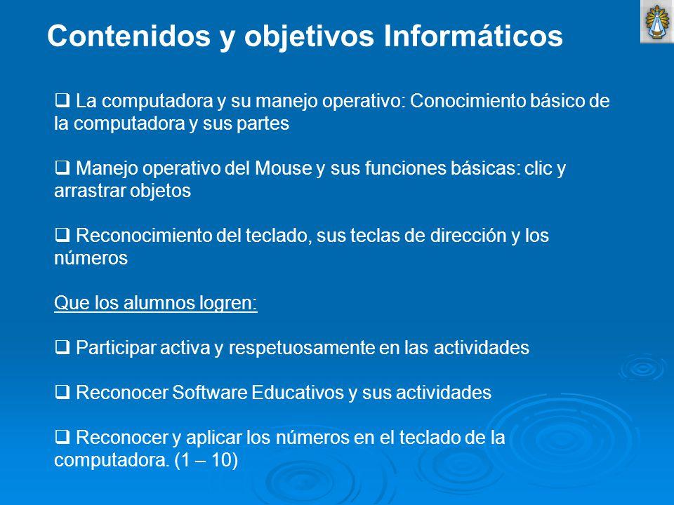 Contenidos y objetivos Informáticos