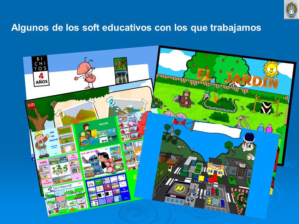 Algunos de los soft educativos con los que trabajamos