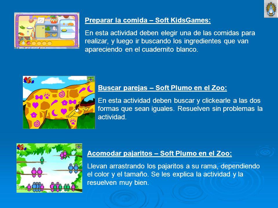 Preparar la comida – Soft KidsGames: