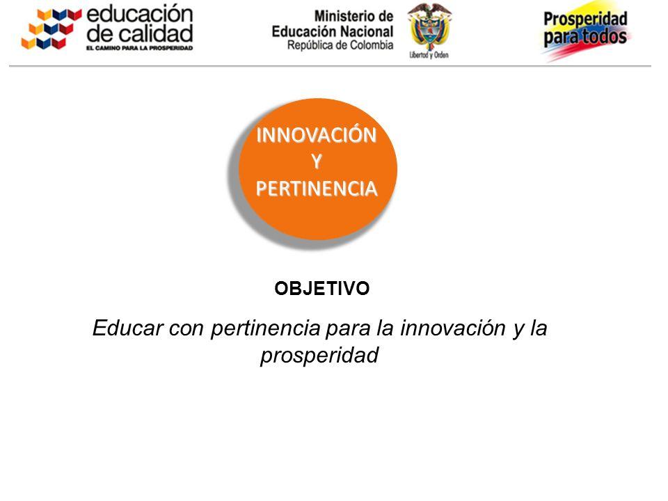 Educar con pertinencia para la innovación y la prosperidad