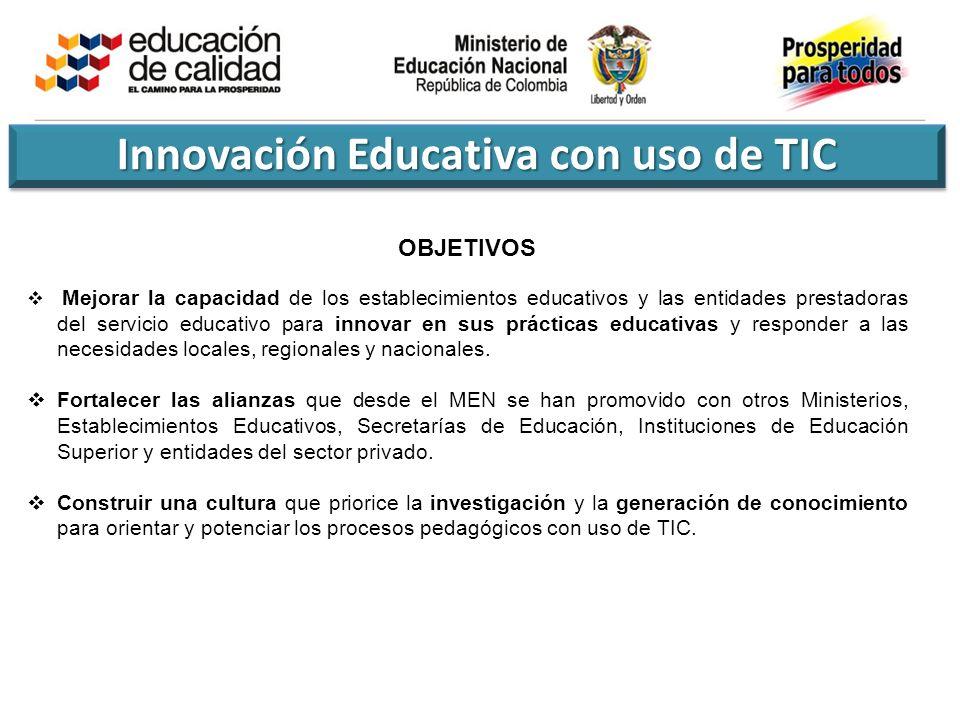 Innovación Educativa con uso de TIC