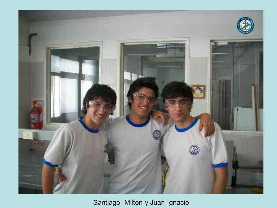 Santiago, Milton y Juan Ignacio