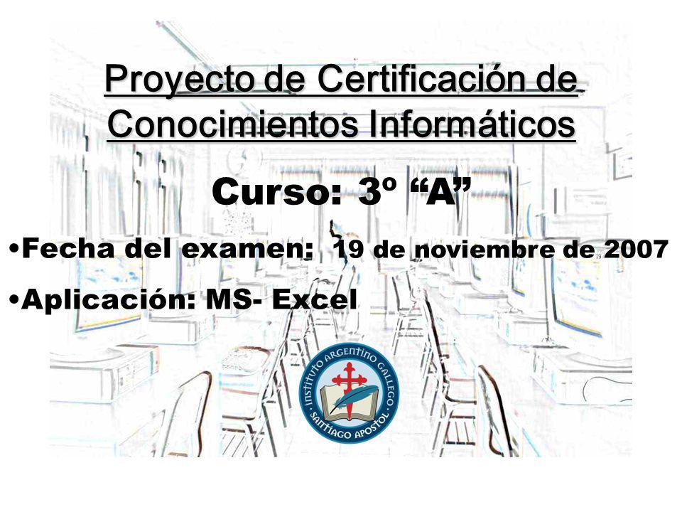 Proyecto de Certificación de Conocimientos Informáticos