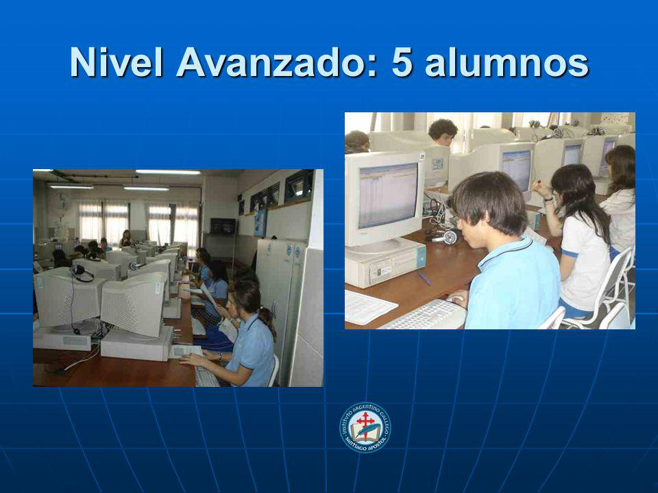 Nivel Avanzado: 5 alumnos