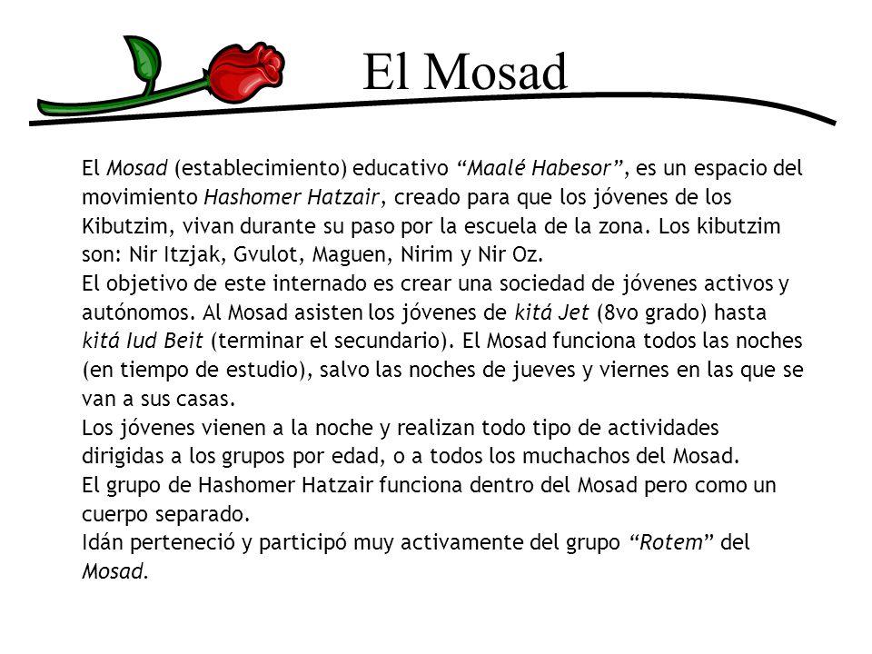 El Mosad El Mosad (establecimiento) educativo Maalé Habesor , es un espacio del. movimiento Hashomer Hatzair, creado para que los jóvenes de los.