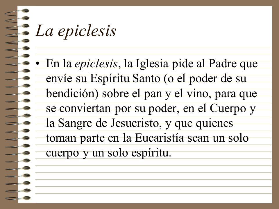 La epiclesis