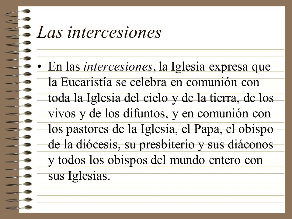 Las intercesiones