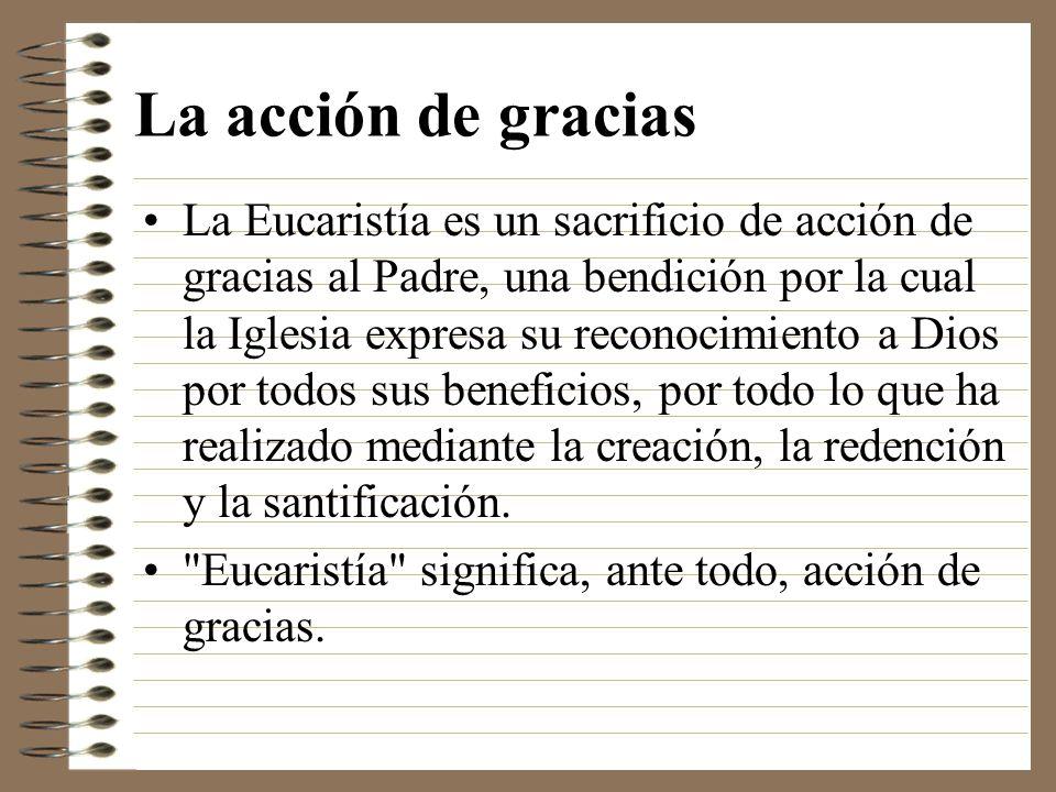 La acción de gracias