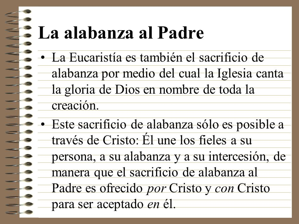 La alabanza al Padre