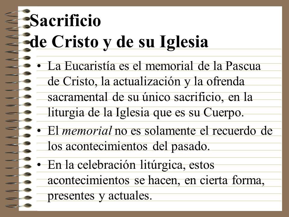 Sacrificio de Cristo y de su Iglesia