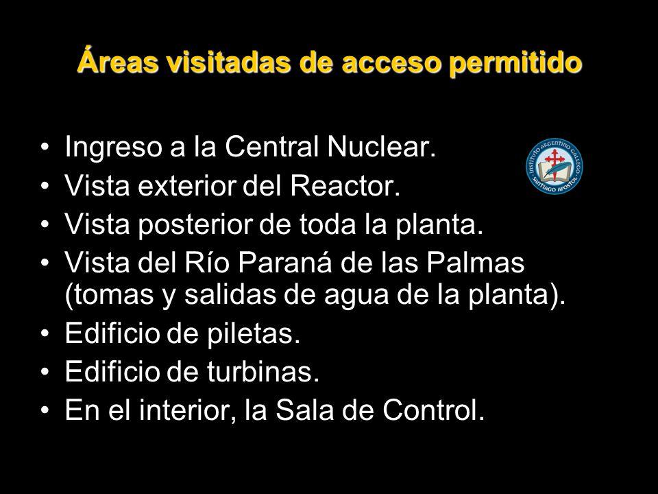 Áreas visitadas de acceso permitido