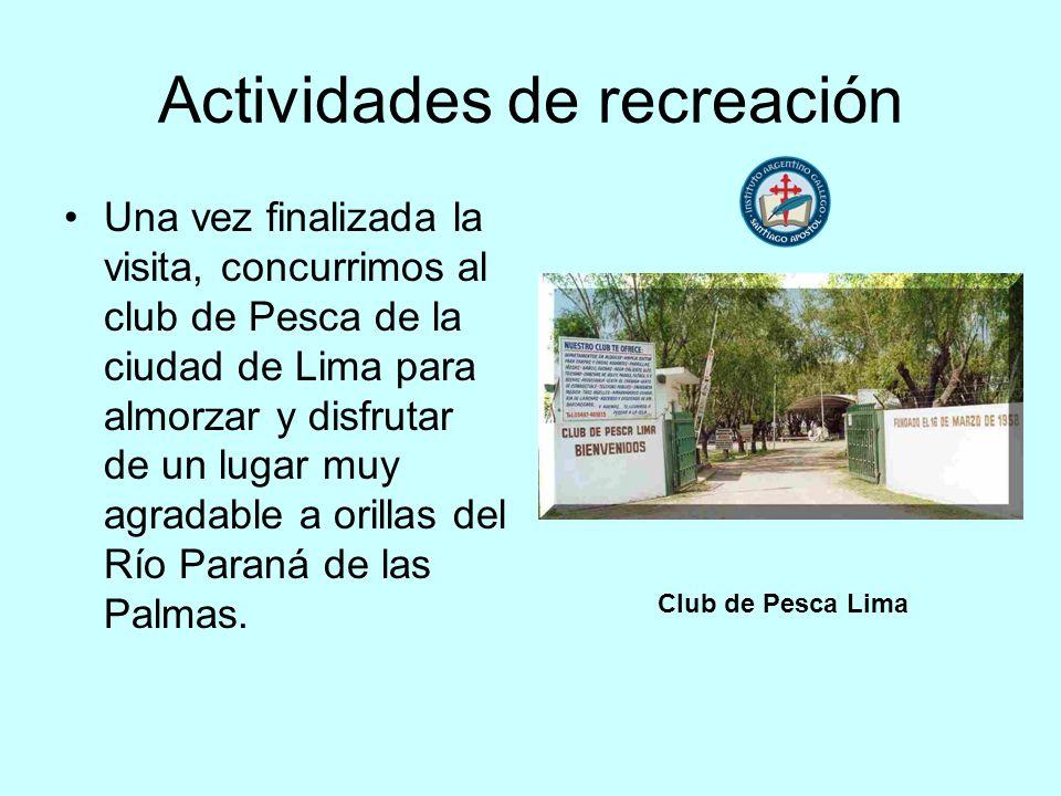 Actividades de recreación