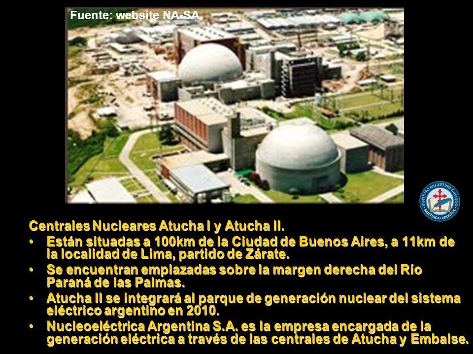 Centrales Nucleares Atucha I y Atucha II.
