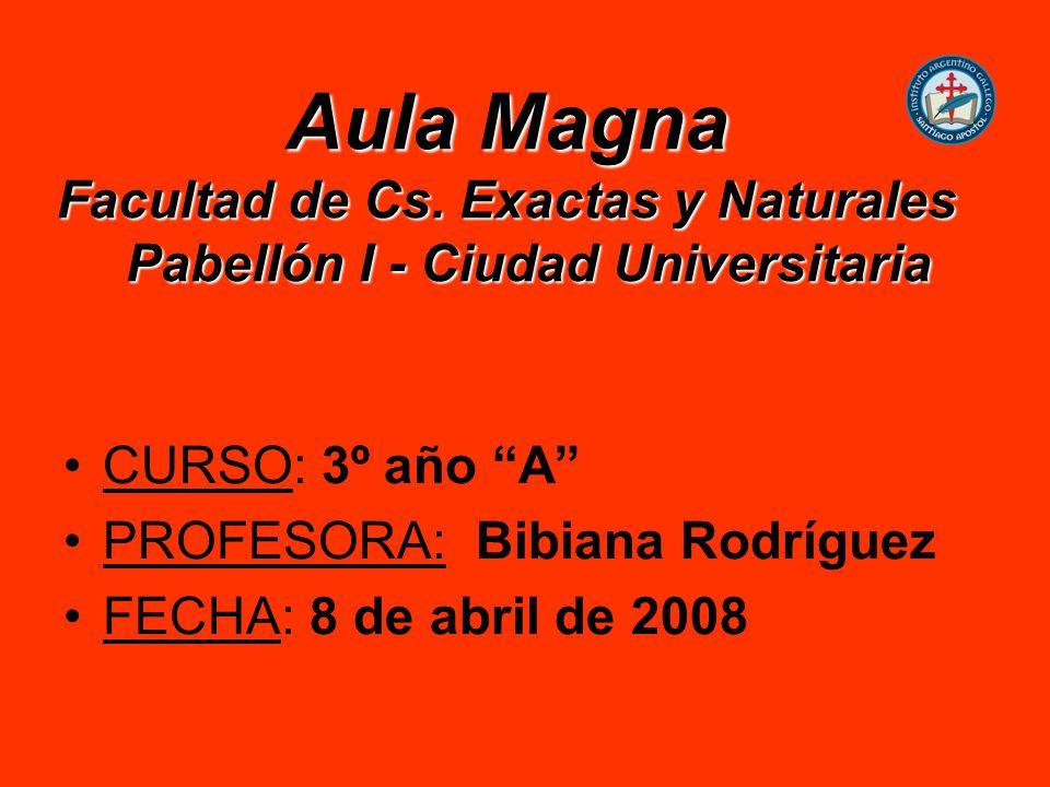 PROFESORA: Bibiana Rodríguez FECHA: 8 de abril de 2008