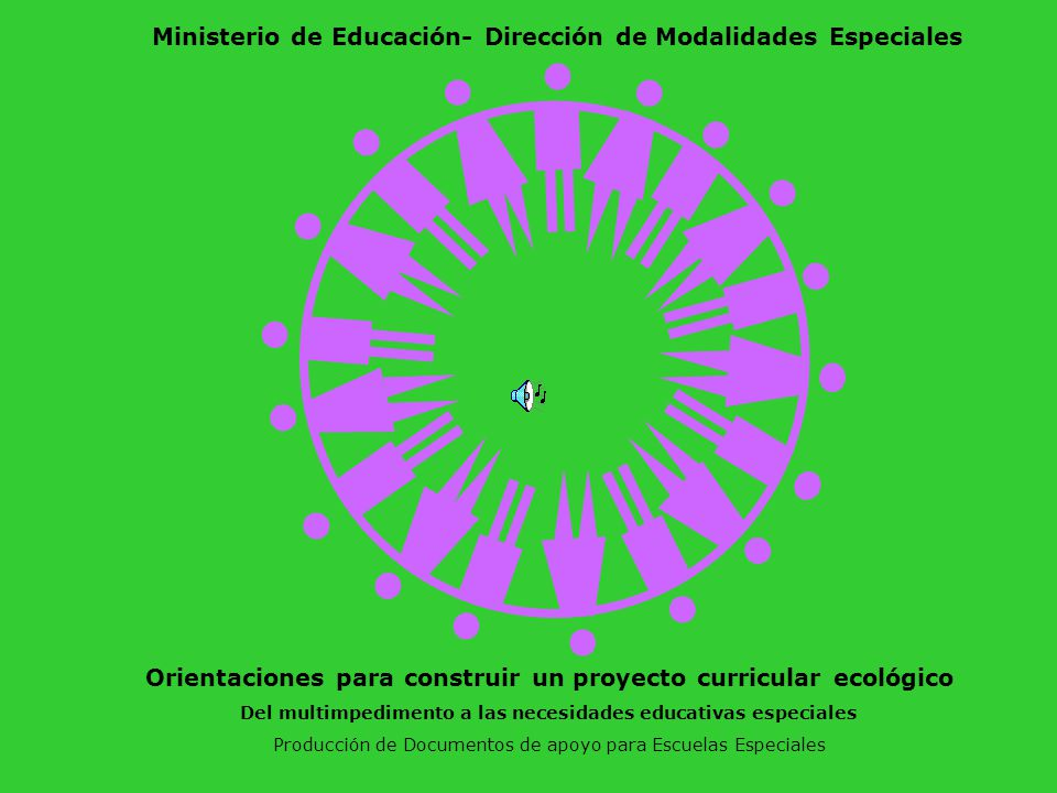 Ministerio de Educación- Dirección de Modalidades Especiales
