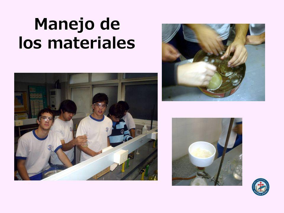 Manejo de los materiales