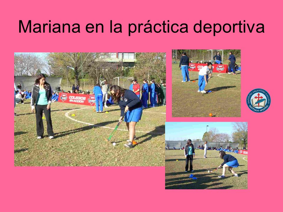 Mariana en la práctica deportiva