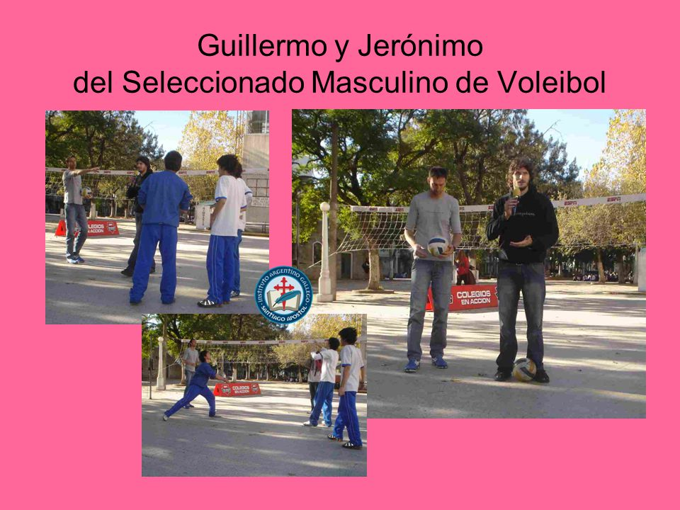 Guillermo y Jerónimo del Seleccionado Masculino de Voleibol