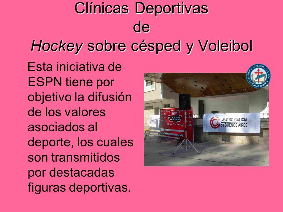 Clínicas Deportivas de Hockey sobre césped y Voleibol