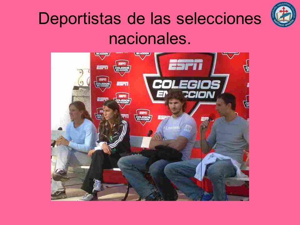 Deportistas de las selecciones nacionales.