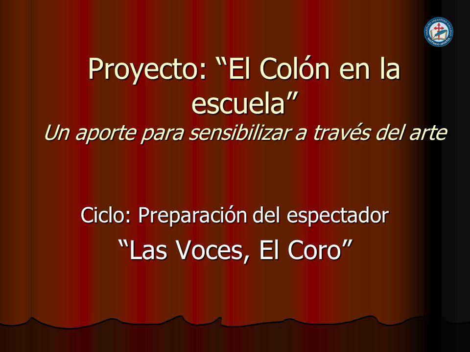 Ciclo: Preparación del espectador Las Voces, El Coro