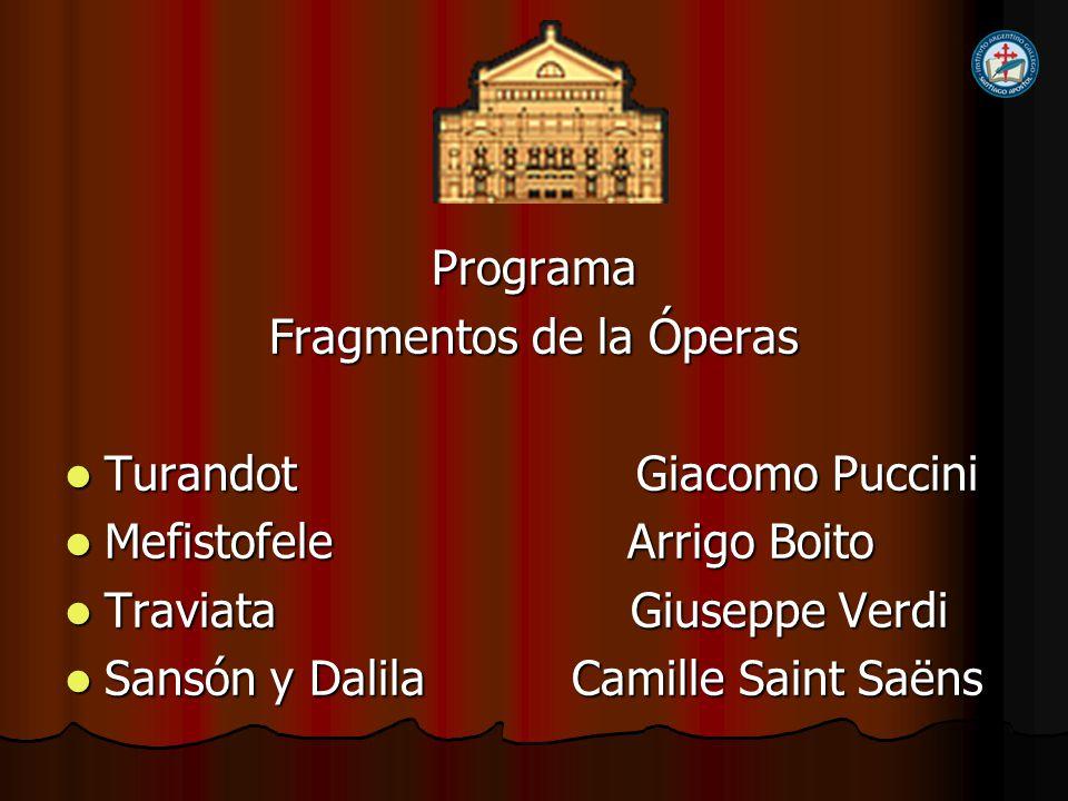 Fragmentos de la Óperas