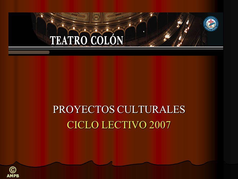 PROYECTOS CULTURALES CICLO LECTIVO 2007