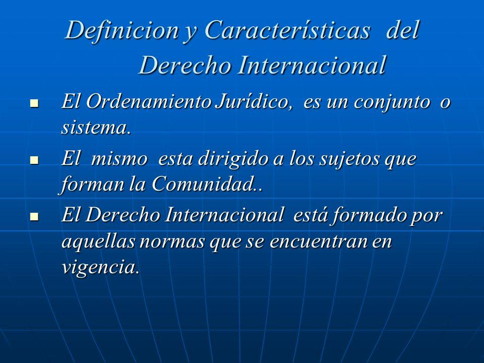 Definicion y Características del Derecho Internacional