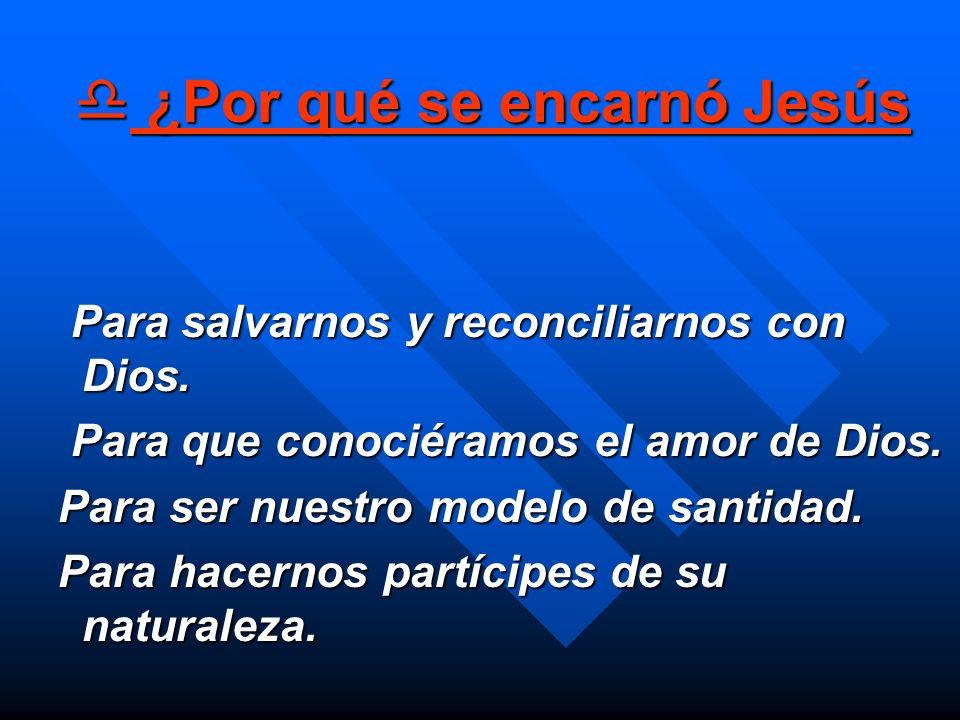 ¿Por qué se encarnó Jesús