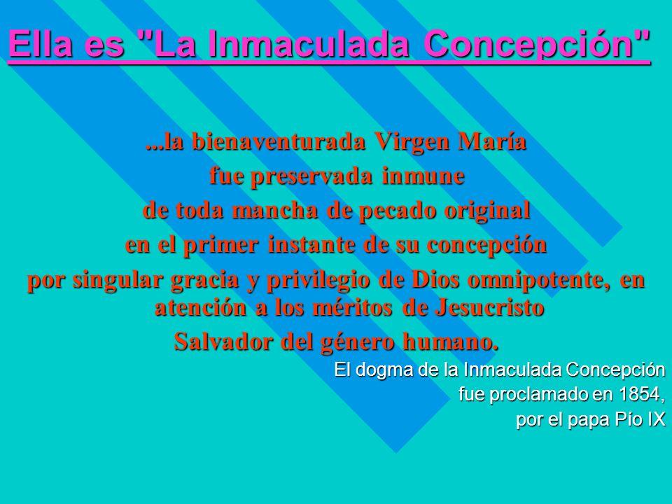 Ella es La Inmaculada Concepción