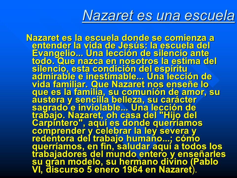 Nazaret es una escuela