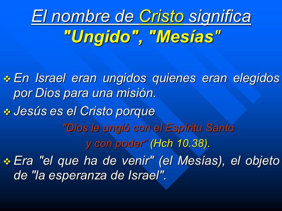 El nombre de Cristo significa Ungido , Mesías