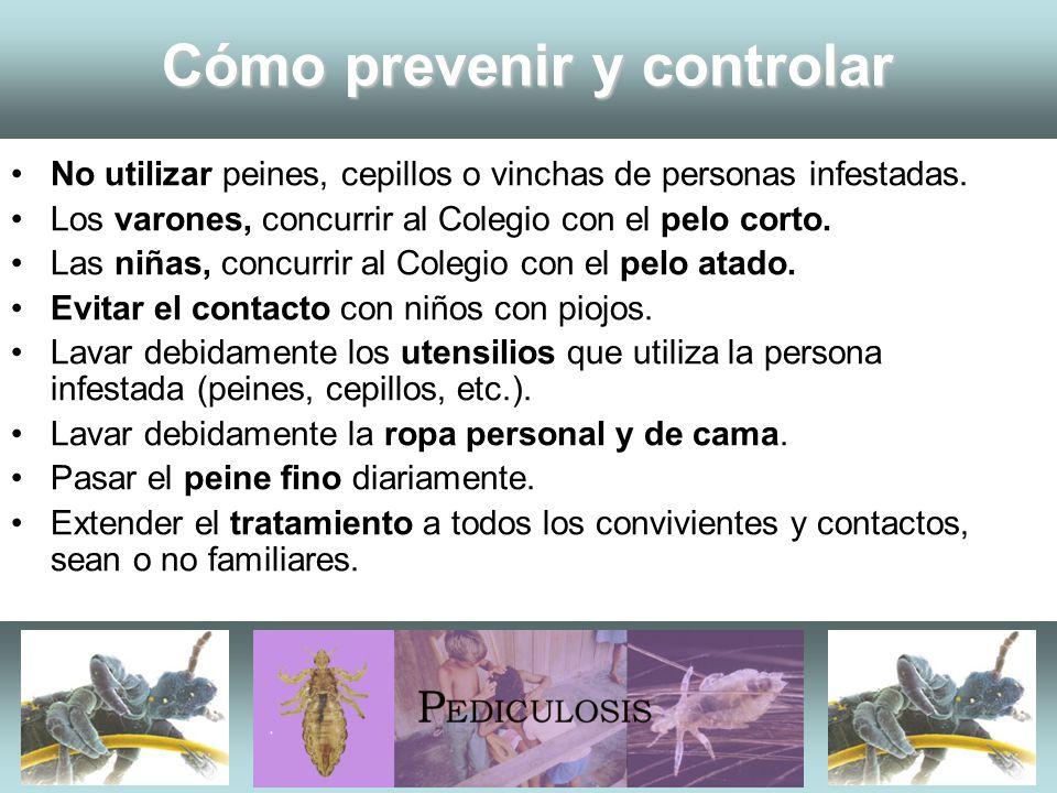 Cómo prevenir y controlar