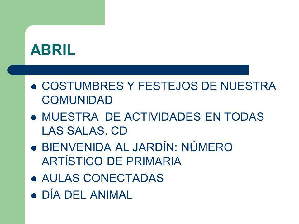 ABRIL COSTUMBRES Y FESTEJOS DE NUESTRA COMUNIDAD