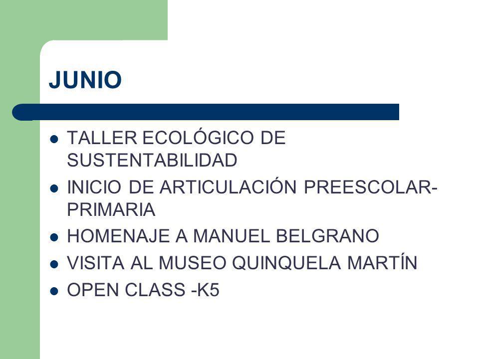 JUNIO TALLER ECOLÓGICO DE SUSTENTABILIDAD